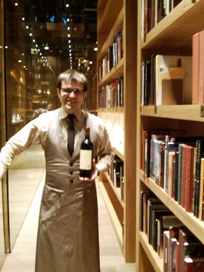 César Cánovas in the wine library