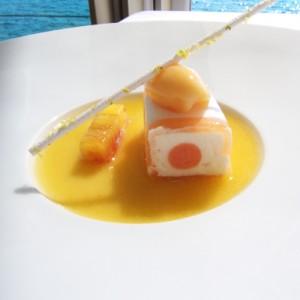 mousse yeti marseillais sorbet de pêche
