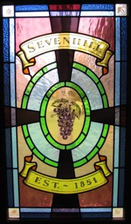 Sevenhill stained glass window